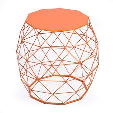 Orange Side Table Joveco Triangle Pattern Metal End Table Side Table Sofa Table