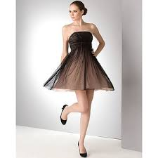 jill stuart black strapless dress with sheer overlay polyvore