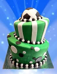 football cakes 2 tier birthday cake football