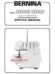 bernina sewing machine manuals service u0026 parts manuals