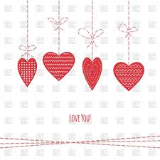 valentine u0027s day decorations hanging heart shaped tags vector