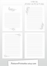letter writing paper printable printable letter writing paper digital download for pdf file this is a digital file