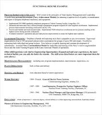 Sample Functional Resume Pdf by Functional Resume Format Example