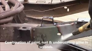 paint u0026 rust removal c 10 chassis the dustless blasting way youtube