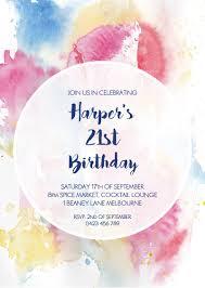 birthday invitations watercolour 21st birthda dp birthday invitations