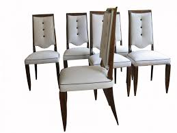 Art Deco Dining Room Chairs Dining French Art Deco Dining Chairs 1930s Set Of 6 5 French Art
