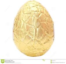 gold easter eggs photo of an easter egg wrapped in gold foil stock photo image