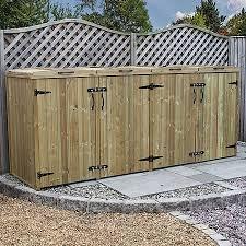 wooden bin waltons pressure treated wooden chest wheelie bin store