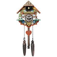river city clocks musical multi colored quartz cuckoo