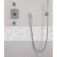 Mother Of Pearl Tile Mirror Backsplash Liner Wall - Shower backsplash