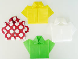 Pliage Serviette Noeud Pliage En Papier Réaliser Une Chemise Ou Chemisette Pliage De