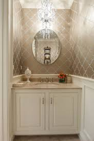 Interior Wallpaper Desings by Top 25 Best Small Bathroom Wallpaper Ideas On Pinterest Half