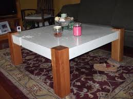 Concrete Side Table Coffee Tables Dazzling Trey Side Table Concrete Black Metal Cube