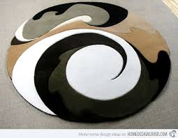 15 geometrical and artisitc modern round area rugs home design lover