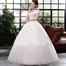 wedding dresses for women white v neck solid lace floor length wedding gown women dress