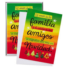 gift of family and friends spanish language christmas cards box