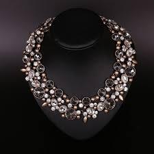 vintage crystal statement necklace images 2018 vintage crystal bib statement necklace alloy collar necklaces jpg