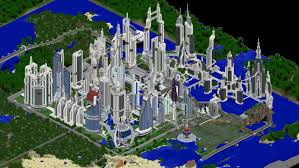Minecraft City Maps Images Future City 2 1 Worlds Projects Minecraft Curseforge