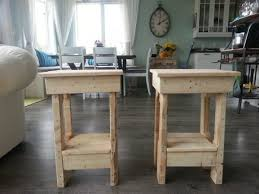 How To Make End Tables Wooden by He Grabbed An Old Pallet And Made This In Under 2 Hours Incredible