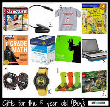 gift ideas for the 5 year boy baby on the brehm