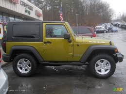 2007 green jeep wrangler rescue green metallic 2007 jeep wrangler rubicon 4x4 exterior