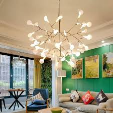 Track Light Pendant Fixtures Modern Firefly Led Chandelier Acrylic L Branch Ceiling Light