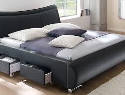 Schlafzimmer Komplett 140 Cm Bett Polsterbett Lando Bett 180x200 Cm Schwarz 4 Schubkasten Doppelbett