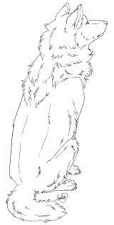 sitting wolf lineart by sassparylla on deviantart