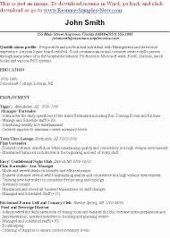 high resume template for college download books bartender resume exles luxury bartending resume sle free
