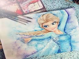 elsa frozen painting