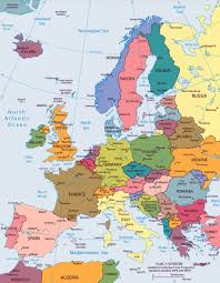 Europe Flags Large Big Europe Flag Political Map Showing Capital Cities