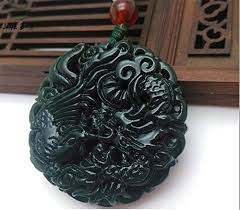 natural jade necklace images Natural chinese black green jadeite jade dragon pendant necklace jpg