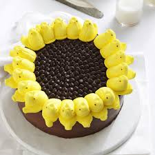 check out peeps sunflower cake it u0027s so easy to make sunflower
