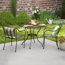 cast iron patio furniture sets exterior black metal dining armchairs which mixed with bonded