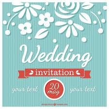 flower wedding card retro style vector free