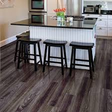 Vinyl Kitchen Flooring by Trafficmaster Allure Ultra 7 5 In X 47 6 In Aspen Oak Black