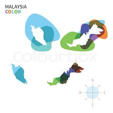 map malaysia vector abstract vector color map of malaysia with transparent paint