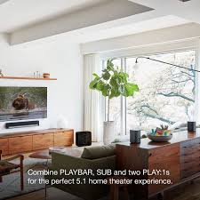 amazon com sonos 5 1 home theater system playbar sub play 1