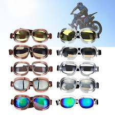 colorful lenses classic scooter motocross retro motorcycle goggles eyewear vintage pilot glasses sunglasses