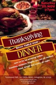customizable design templates for restaurant thanksgiving dinner
