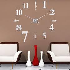 modern diy large wall clock 3d mirror surface sticker home office luxury large diy 3d wall clock home decor bell cool mirror stickers art watch