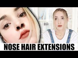 Hair Extension Meme - i tried nose hair extensions instagram beauty trends nose hair