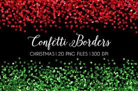 christmas glitter confetti border illustrations creative market