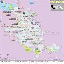 map of cities in california san jose map map of san jose city california