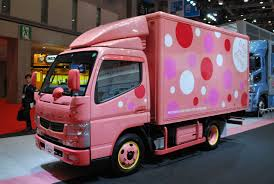 mitsubishi truck canter mitsubishi fuso canter in pink tokyo 2013 photo gallery autoblog