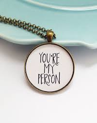 college graduation gifts for friends best friend necklace you re my person necklace graduation gift