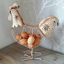 rustic chicken ornament