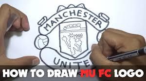 cartoon lamborghini logo how to draw a cartoon manchester united fc logo tutorial step