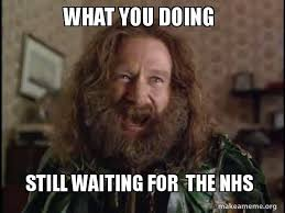 What You Doing Meme - what you doing still waiting for the nhs robin williams what
