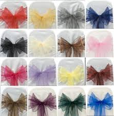bows for chairs buy organza sash chair cover bows for wedding party high quality